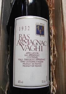 ヴァギーアルマニャック <500ml> 1932年