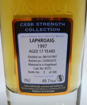 ラフロイグ1997_17年49.7%/シグナトリーカスクストレングス