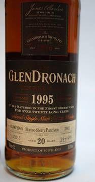 グレンドロナック1995_20年55%オロロソシェリーパンチョン